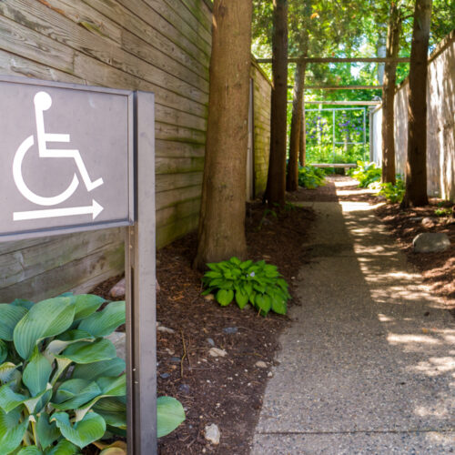 Ada,Compliant,Handicap,Disability,Signs,With,Symbol,In,Park,For